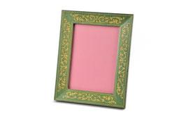 Cornice porta foto intarsiata verde