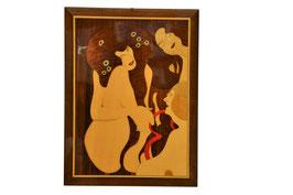 Quadro in legno intarsiato Arte moderna 2