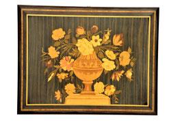 Quadro intarsiato vaso fiori