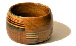 Portatovagliolo in legno con mosaico 04