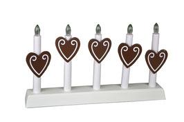 Porta candele con cuori