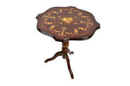 Tavolino intarsiato mod margherita
