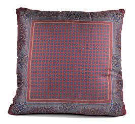 Etro cuscino in seta bord/blu