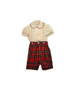 Completo scozzese rosso