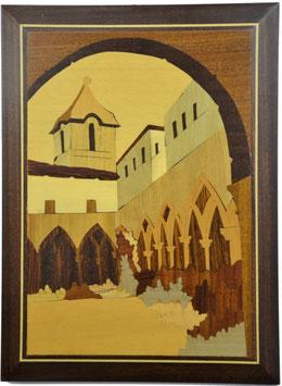 Quadro in legno intarsiato Chiostro San Francesco Sorrento