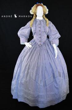 Bürgerkriegs - Kleid  / Victorianisches Krinolinen -  Kleid  A1-Modell