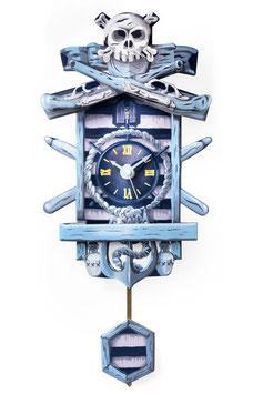 "Schwarzwälder Papp-Uhr - Mini ""Tortuga"""