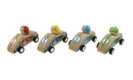 Holzautos mit Friktionsantrieb