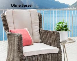 Destiny Pro Auflage Natur für Gartensessel Luna - Ohne Sessel