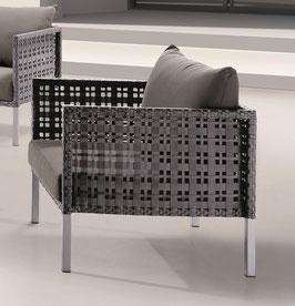 Destiny Lounge Sessel Barcello Silber Grau Gartensessel Loungesessel Sofasessel