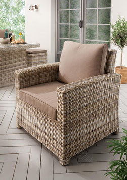 Destiny Loungesessel ALCUDIA Sessel Gartensessel Polyrattan Mixed Beige