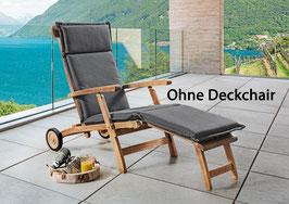 Premium Polster Auflage für Deckchair GRAU Struktur Kissen Exclusiv by Destiny - Ohne Deckchair