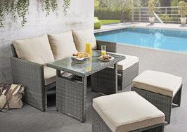 Destiny Lounge Windhoek Gartenmöbelset Loungeset Grau 5tl Sitzgruppe Polyrattan