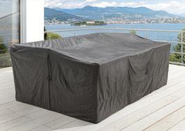 Premium Schutzhülle f. Aruba / Bahia Sitzgruppe Gartenmöbelset Schutzhaube Hülle Haube Grau 250 x 150 cm