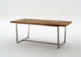 """Destiny Toledo Tisch, rechteckig """"Second Life Wood"""" / Edelstahl"""