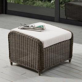 Destiny Lounge Hocker Casa Vintage Braun Luna Palma Fußhocker Polyrattan Beinauflage