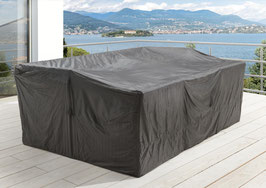 Premium Schutzhülle Sitzgruppe Gartenmöbelset Schutzhaube Hülle Haube Grau 320 x 220 cm