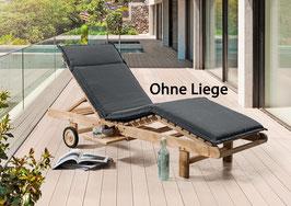 DESTINY Auflage Anthrazit für Sonnenliege / Relaxliege anthrazit - Ohne Liege -