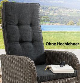 Destiny Pro Auflage Anthrazit für Hochlehner Sessel Palma Grau Geflechtsessel Polsterauflage Polster für Sessel - Ohne Hochlehner -