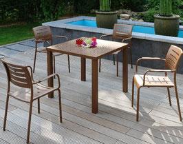 Inko Sitzgruppe Ronda Gartenmöbelset Aluminium Garnitur 4 Sessel Tisch