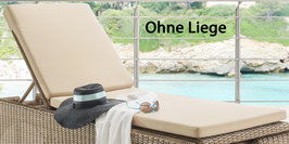 DESTINY Luxe Auflage Bolivar High Vinicio Sand Struktur Liegenauflage Liegenpolster - Ohne Liege -