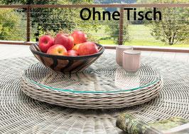 Destiny Drehteller Lazy Susann Drehtisch Polyrattan Glas für Luna Tisch - Ohne Tisch -