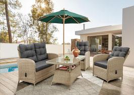 Destiny Loungegruppe Merano Natur Meliert Loungeset Sofaset Lounge Möbelset