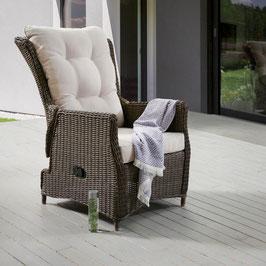 Destiny Relaxsessel Casa Vintage Braun Komfortsessel Verstellsessel Polyrattan
