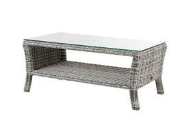 Diamond Garden Tisch Granada Loungetisch Gartentisch Offwhite Polyrattan