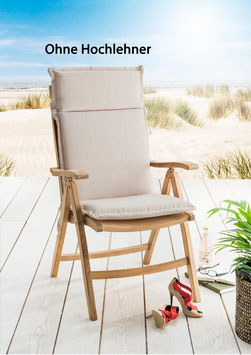 Destiny Pro Auflage für Hochlehner Sand Meliert Klappsessel Polsterauflage Polster für Sessel - Ohne Hochlehner -