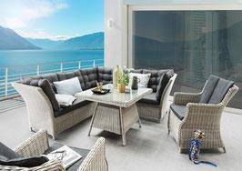 Destiny Loungegruppe Palma Luna Vintage weiß Lounge Dininglounge Sitzgruppe Sofaset