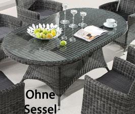 Destiny Gartentisch Santos Tisch 180 x 100 cm Poylrattan - Ohne Sessel