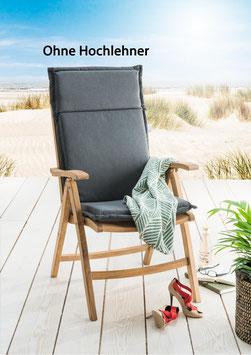 Destiny Pro Auflage für Hochlehner Grau Klappsessel Polsterauflage Polster für Sessel - Ohne Hochlehner -