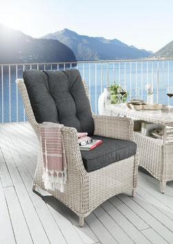 Destiny Sessel Casa Vintage Weiß Gartensessel Loungesessel Polyrattan Sofasessel