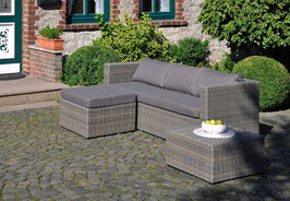 Inko Lounge Mito Loungeset Loungegruppe Polyrattan Gartenmöbelset Dark Olive