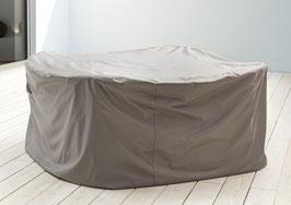 Premium Schutzhülle für Sitzgruppe Quadratisch M 180 x 180 cm Gartenmöbelset Schutzhaube Hülle Haube Grau