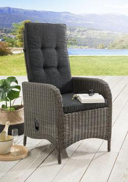 Destiny Hochlehner Sessel Palma Vintage Grau Komfortsessel Gartensessel