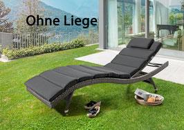 DESTINY Polster für Wave Liege -Grau - OHNE LIEGE -