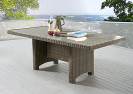 Destiny Gartentisch LUNA Vintage Braun Tisch 200 x 100 cm Polyrattan Geflechttisch