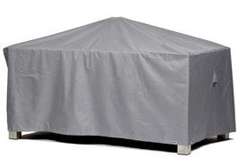 Premium Schutzhülle 155 x 95 für Gartentisch Tisch Schutzhaube Hülle Haube Grau Esstisch