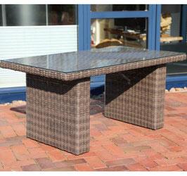 Destiny Loungetisch Riviera 140 x 80 Braun Lounge Tisch Gartentisch