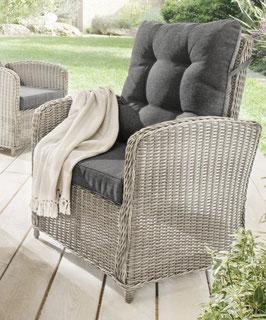 Destiny Loungesessel Merano Vintage Weiß Sessel Polyrattan Komfortsessel