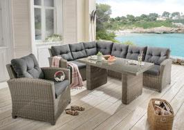 Destiny Loungegruppe RIVIERA XL Lounge Garnitur Sitzgruppe Sofaset Polyrattan