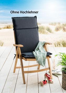 Destiny Pro Auflage für Hochlehner Anthrazit Klappsessel Polsterauflage Polster für Sessel - Ohne Hochlehner -