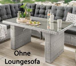 Destiny Loungetisch Riviera 140 x 80 Vintage Weiß Lounge Tisch Dininglounge Gartentisch - Ohne Lounge -
