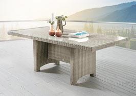 Destiny Gartentisch LUNA Vintage Weiß Tisch 200 x 100 cm Polyrattan Geflechttisch