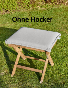 Polster für Klappstuhl Hocker Kissen 45x50 - Ohne Hocker