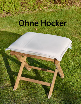 DESTINY Auflage für Hocker Natur Polster Kissen Klappsessel Auflage für Hocker - Ohne Hocker -