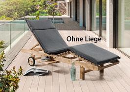 Destiny Premium Auflage GRAU Gartenliege Sonnenliege - Ohne Liege -