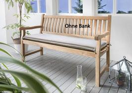 Destiny Bankpolster 120 cm Sand Auflage für Gartenbank  Polster mit Stehsaum - Ohne Bank -